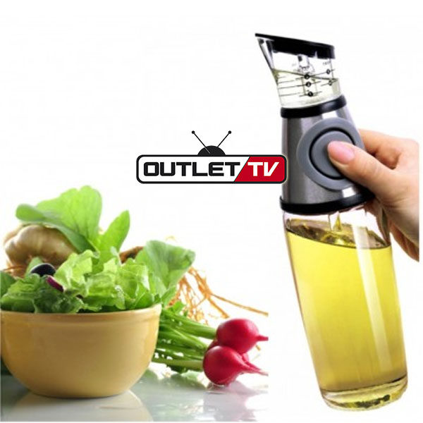 Dispensador de Aceite o Vinagre Aceitera en Vidrio con Dosificador 500ml