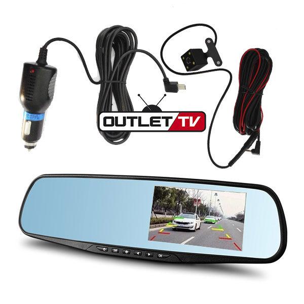 Espejo retrovisor para carro DVR pantalla 4.3″ Video Hd