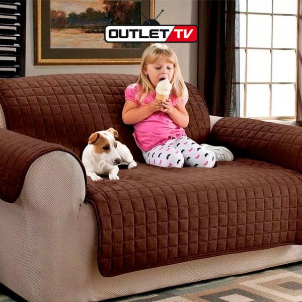 Protector de Sofá Muebles 2 puestos Perros Gatos Forro