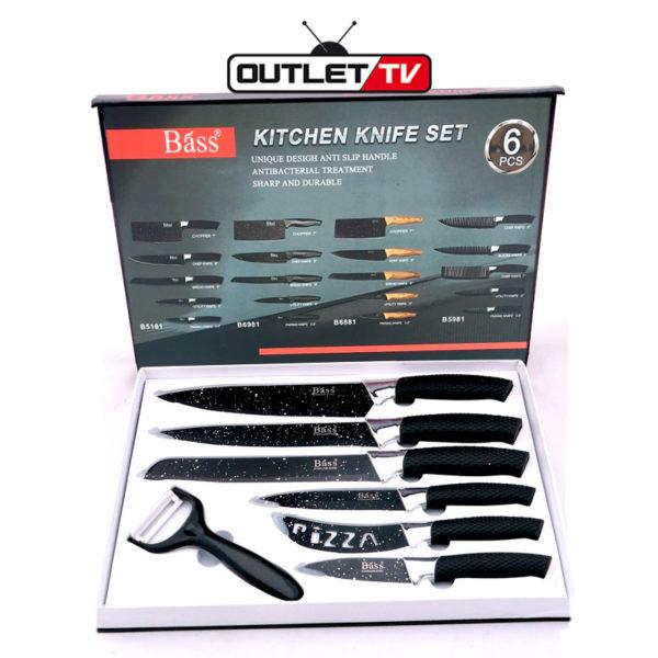 Set de Cuchillos BASS para Cocina Multiusos 7 Piezas