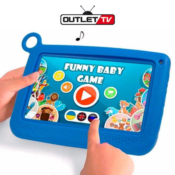 Tablet Kids Para Niños Bluetooth Wifi Cámara 8gb Resistente